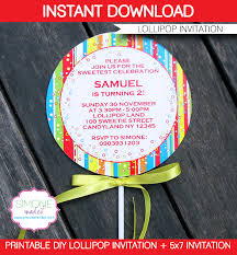 lollipop invitations template u2013 red template lollipop party and