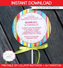 lollipop invitations template u2013 red lollipops templates and