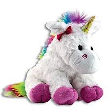 unicorn rainbow amazon com the petting zoo plush rainbow unicorn 10 inches