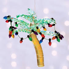 glass palm tree ornament