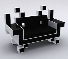 space invader couch is perfect for your retro game room