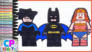lego nightwing batman woman coloring pages kids