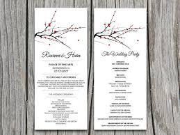 winter wedding programs diy blooming tree branch winter wedding program microsoft word