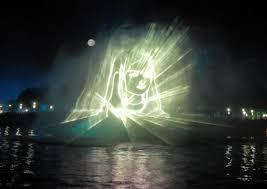 3d light show 3d laser light show graphics with artificial fog and haze co2