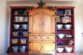 Mexican Pine Bookcase Painting Pine Furniture