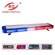 police led light bar r65 certificated 1200mm amber led lightbar with display police