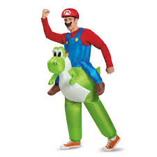 Mario Halloween Costumes Girls Amazon Disguise Men U0027s Mario Riding Yoshi Costume Clothing