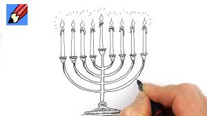 menorah candle holder how to draw a hanukkah menorah real easy