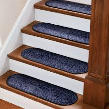 stair home interior design with dark brown wooden tread covers and