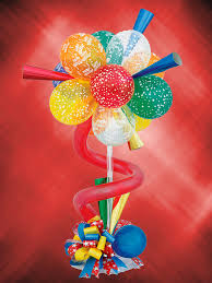 Lollipop Topiary Balloon Centepiece Ideas Balloons N Party Decorations Orange County