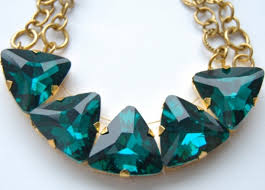 green emerald necklace images Green emerald triangle gold statement necklace aftcra jpg