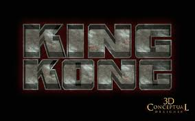 texture for logo 3dconceptualdesignerblog project review king kong 2005 3d logo