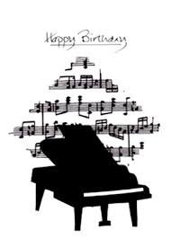 handmade fabric grand piano birthday card for the budding pianist