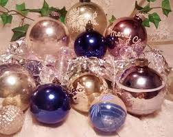 Christmas Decorations Blue And Silver by Cobalt Blue Christmas Ornaments Etsy