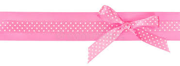pink polka dot ribbon pink polka dot ribbon with a bow stock image image of birthday