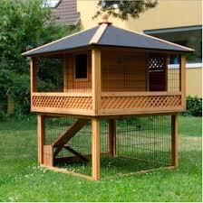 Fox Proof Rabbit Hutches Rabbit Hutch Patio Pagoda Spacious Pet Garden Home Wooden Cage
