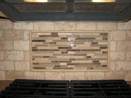 Travertine Tile Backsplash Travertine Tile Backsplash With Glass - Backsplash travertine tile