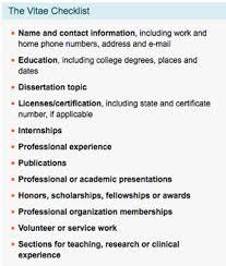 Resume Checklist Cv Resume Psychology Club