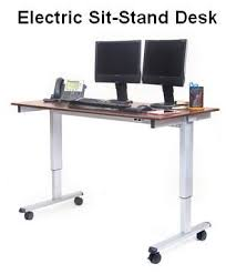 Electric Sit To Stand Desk Stand Up 60 El 60 Wide Electric Stand Up Desk Oceanpointe