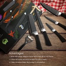kcasa kc 3cr13i 6 pieces 3cr13 stainless steel kitchen knife set