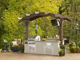 Outdoor Kitchens Kits by Outdoor Majestic Outdoor Kitchen Kits Using Stone Material With
