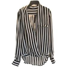 striped blouse wrap front striped blouse polyvore