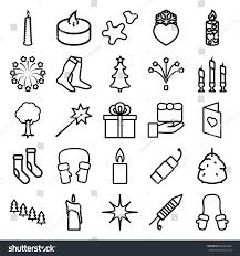 christmas icons set set 25 christmas stock vector 640284622