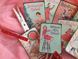 Shabby Chic Gift Bags by 9 Christmas Gift Bag Tags Label And 9 Clothespins Clips Set Shabby
