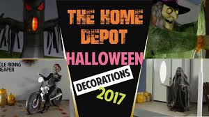 the home depot halloween decorations 2017 new youtube