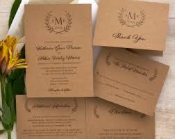 rustic wedding invitations etsy stephenanuno