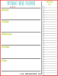 printable weekly and monthly planner 2015 printable weekly menu planner template vastuuonminun