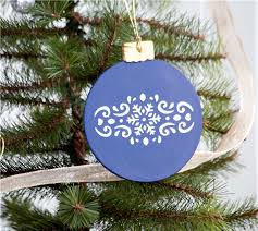 project center wooden ornament
