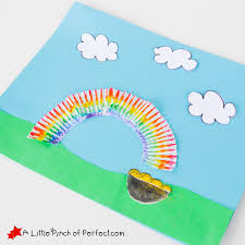 st patrick u0027s day rainbow and pot of gold cupcake liner craft