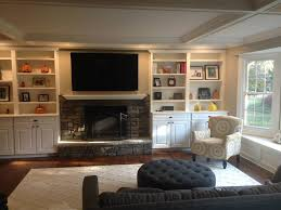 bridgewater nj built in cabinetry around fireplace design build pros