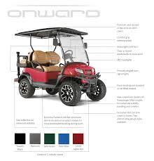the new onward cart u2014 cce golf cars