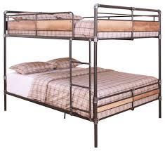 Ballard Wood And Metal Bunk Bed Industrial Bunk Beds By - Queen over queen bunk bed