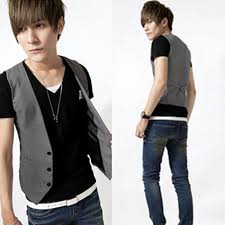 mens v neck t shirt casual formal business waistcoat vest suit