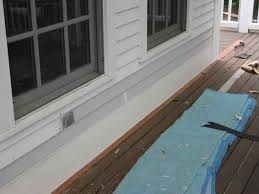 wood siding to repair a leaky chimney part deck ledger flashing