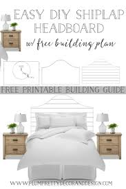 plum prettyeasy diy shiplap headboard with free building plans u2014