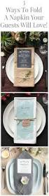 ways to fold a napkin napkins dinners and wedding