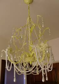 pearl chandelier enchanting diy pearl chandelier pearl chandelier house tropical