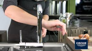 grohe minta kitchen faucet grohe minta touch youtube