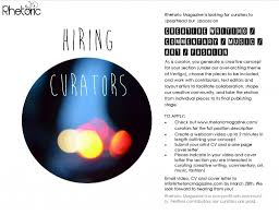 looking for curators for rhetoric magazine lb forum lookbook