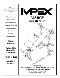 impex mwb 544 user manual 11 pages