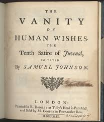 Vanity Johnson The Vanity Of Human Wishes The Tenth Satire Of Juvenal Imitated