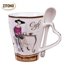 buy ceramic mug fashion elegant pattern design coffee milk