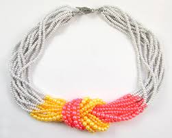bead necklace jewellery images Two ways to finish a multi strand seed bead necklace loose ends jpg