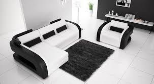 fauteuil et canapé canapé d angle en cuir avec fauteuil assorti italien design et pas