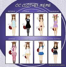 Clothes Meme - oc clothes meme lousy by shelookstothesky on deviantart