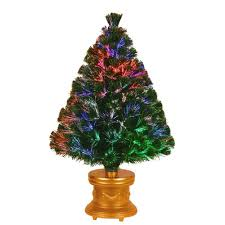 national tree company 3 ft fiber optic fireworks evergreen